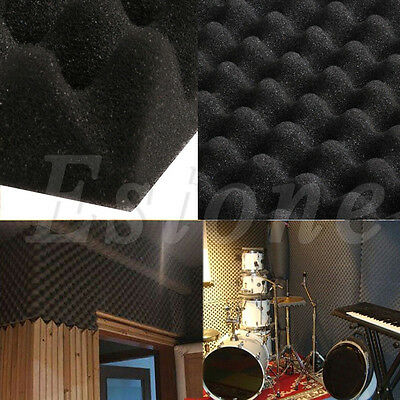 Acoustic Soundproof Sound Thick Absorption Pyramid Studio Foam Board 50x50x3cm