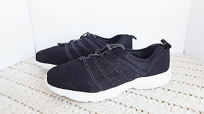 NWT MENS 14 M Black Water Shoes King Size Mesh Sneakers