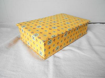Vintage PROVENCAL French YELLOW floral SEWING BAG