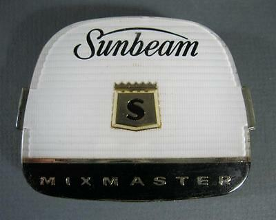 Vintage Sunbeam Mixmaster A24 model replacement front badge -plastic