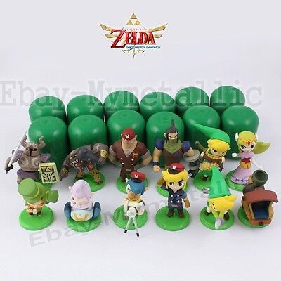 12pcs Set The Legend of Zelda Link 3-5cm PVC Figure Loose
