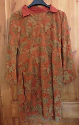 10 M  brown floral pretty patterned Asian kameez ladies tunic top Indian UK