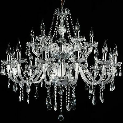 French Provincial Glass Chandelier 18 Arms (12+6) Ceiling Lights Lighting Clear