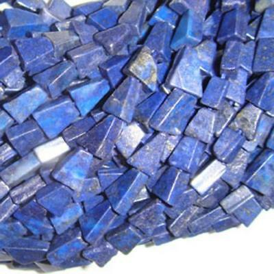 Strand Of 30+ Blue Lapis Lazuli Approx 7 x 12mm Handcut Triangle Beads DW1260