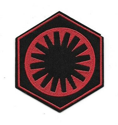 Star Wars The Force Awakens Movie First Order Red Logo Embroidered Patch NEW