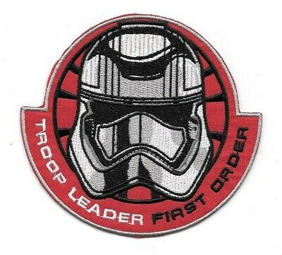 Star Wars The Force Awakens Movie First Order Troop Leader Embroidered Patch NEW