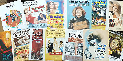 "10""x8"" PHOTOGRAPHS x13 - GOLDEN AGE HOLLYWOOD ACTRESSES MOVIE POSTERS"