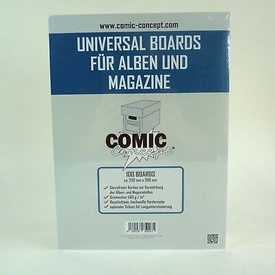 COMIC CONCEPT 100x Universal Alben & Magazin Backer Boards (220 x 298 mm)