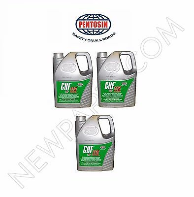 Set of 3 5-Liter Jugs Pentosin CHF11S Power Steering Fluid Hydraulic Pump Fluid