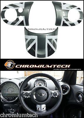 MINI Cooper/S/ONE Black Union Jack MF Steering Wheel Cover R56 R57 R55 Clubman