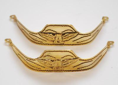 New! Western Cowboy Boot Tips Rand - Gold Square Toed Eagle