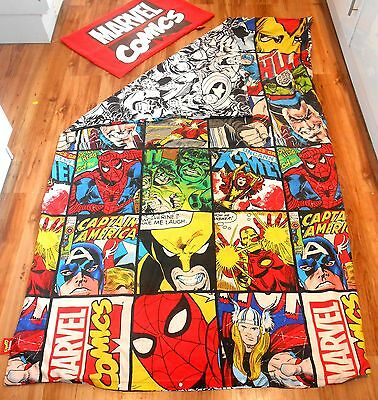 Marvel Comics  ~ MIXED MARVEL HEROES ~ Single Bed Duvet Cover & Pillow Case (A2)