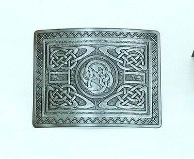 New Scottish Highland Celtic Highland Swirl Kilt Belt Buckle Antique Finish