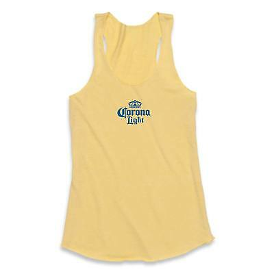 Women's Cotton Blend Corona Light Tank Top Yellow
