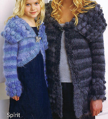 "Womens Knitting Pattern: LONG & CROPPED CARDIGANS 24-42"" / Girls Clothes Pattern"