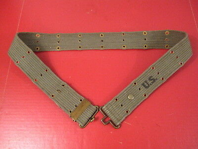 """WWII US Army/USMC M1936 Pistol Web Belt OD Green Color to 48"""" Waist 1944 - Repro"""