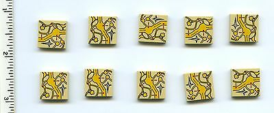 Lego 2x Tan Tile 2x2 with Map of Dragon Egg Location Pattern NEW!!!