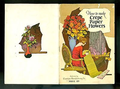 1926 Booklet Dennison Crepe Paper Flowers How To