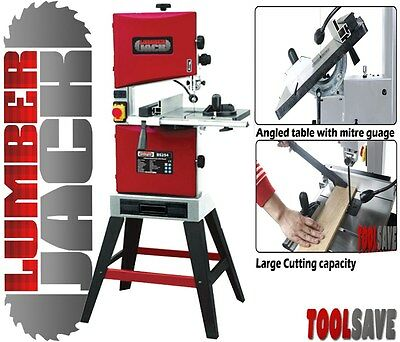 """Lumberjack BS254 Professional 254mm/10"""" Band Saw Tilt Table Woodworking"""