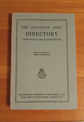 Vintage The Salvation Army Directory with Notes and Illustrations 1954 Book
