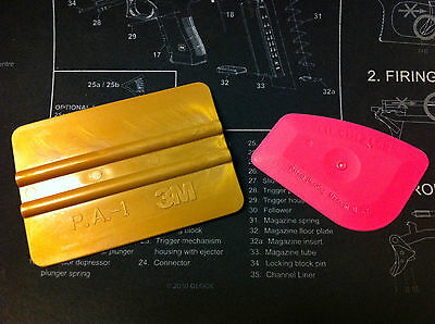 3M Gold Squeegee Lil Chizler tool combo decals stickers graphics install remove