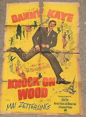 Vintage Movie Poster Knock on Wood Danny Kaye Paramount Pictures 1954 Color