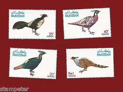 1979 Pakistan, Birds SG 493/6 Mint Never Hinged, Set of Four
