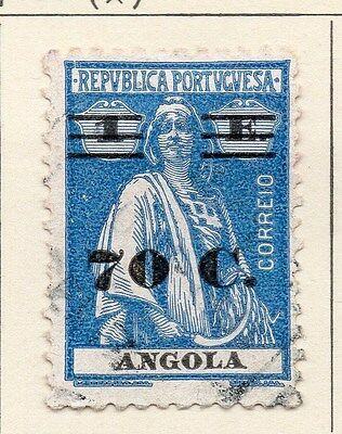 Angola 1931 Early Issue Fine Used 70c. Surcharged 067594