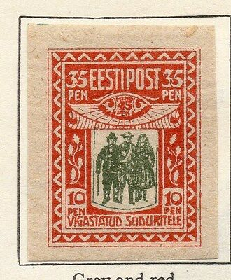 Estonia 1920 Early Issue Fine Mint Hinged 10p. 066660
