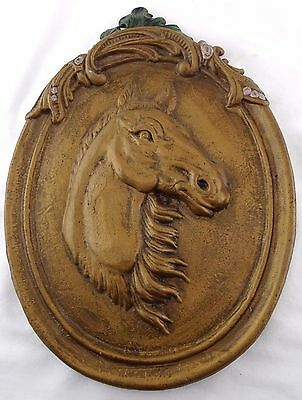 Large Cast Iron Horse Wall Plaque