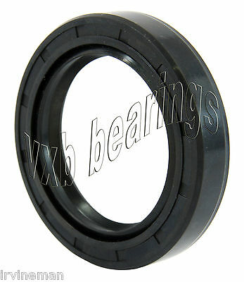"Oil and Grease Seal 0.63""x 0.984""x 0.276"" Inch Rubber Covered Double Lip w/Garte"