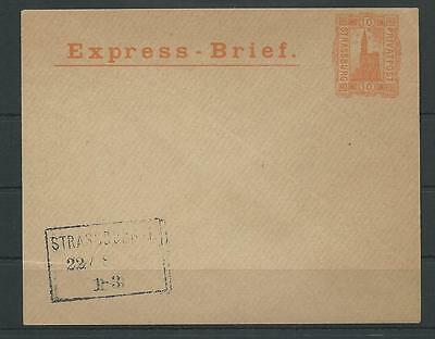 Privatpost Strassburg 10 Pf. Express-Brief (40546