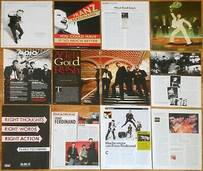 FRANZ FERDINAND clippings photos magazine articles cuttings