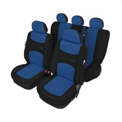 Air Bag Compatible Car Seat Covers Blue & Black - For Kia PICANTO 2004 Onwards