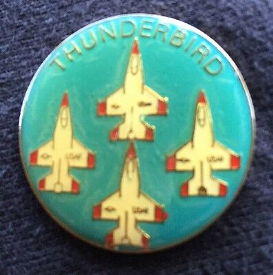 Vintage USAF Thunderbird Lapel Hat Pin F-16 Fighter Jets New Old Stock 1 1/4""