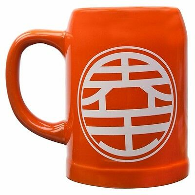 Dragon Ball Z King Kai Symbol Ceramic Stein Officially Licensed Glassware