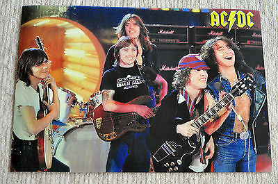 AC/DC poster classic Line Up AC DC Poster RaRe