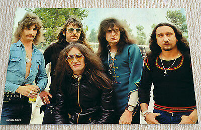 Uriah Heep Poster 1973 David Byron Classic Line Up poster 19 x 13 inches, Rare !