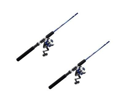 2 x Shakespeare 7 ft Vigilante 2 Pce Fishing Rod & Reel Combos - 3-6kg-Twin Pack