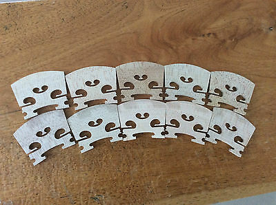 NEW 10pcs first grade violin bridges 4/4 European tone wood