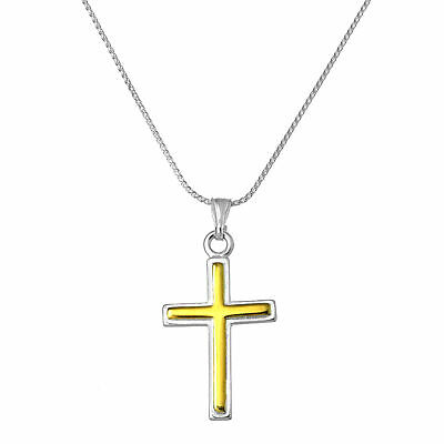 a7c43460468c18 LARGE PLAIN REAL 925 Sterling Silver Cross Necklace 16 18 20 22 ...