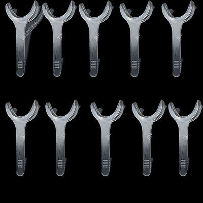 10XDental Cheek Retractor Mouth Opener Transparent T-Shape Large Size Plastic