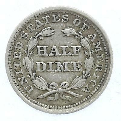 1854 United States of America Liberty Half Dime