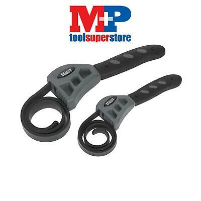 SEALEY AK6408 Strap Wrench Set Oil Filter Removal Tool