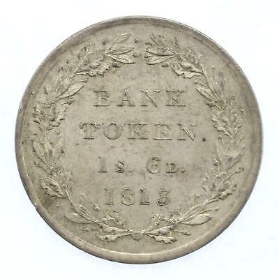 1813 Bank of England Token George III 1 1/2 Shililng Lot C
