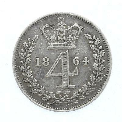 1864 Queen Victoria Maundy 4d Fourpence Coin D14