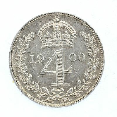 1900 Queen Victoria Maundy 4d Fourpence Coin D16