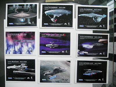 Star Trek ships Gold plaks insert cards set 1990s