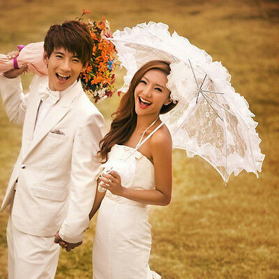 Wedding Beautiful Bridal Lace Parasol Handmade Sun Umbrella Bridal Accessories