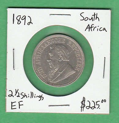 1892 South Africa - 2 1/2 Shillings - Extra Fine